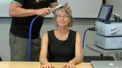 Watch Nancy's brain get zapped with transcranial magnetic stimulation